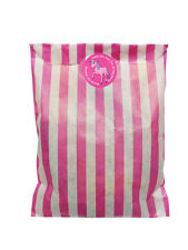 Pink & white paper Party Bags & 30MM ROSA UNICORNO ADESIVI - 24 di ciascun in PACK