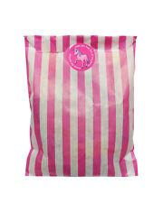 Rosa y blanco bolsas papel fiestas & 30mm unicornio pegatinas 24 de cada en pack