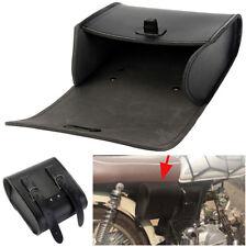 Motorrad Frontlenker / Rücksitz Gepäcksatteltaschen aus schwarzem Kunstleder