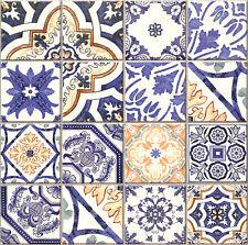 Mediterranean Melange Multi design Wall and Floor Tiles, bright Patchwork effect