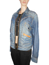 REPLAY Vtg Retro Hippy Handcrafted Casual Festival Jeans Denim Jacket sz L AI22