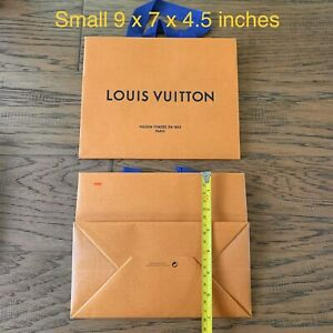 """❤️LOUIS VUITTON Large Empty Paper Gift Shopping Tote Bag - Size 23"""" 21"""" 19"""" 16"""""""