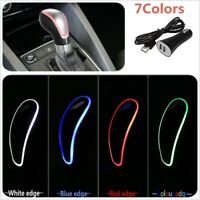 Touch Activated Sensor LED Light Car Gear Shift Knob 7 Colors RGB USB Charger