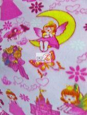 "PRINT POLAR FLEECE FABRIC - Fairy Princess - 60""  WIDTH SOLD BTY - 930"