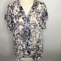 Bellatrix Women's Semi Sheer Summer Blouse  Size Large  A04