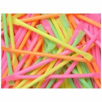 RETRO SWEETS RAINBOW DUST SHERBET SUGAR STRAWS SCHOOL PARTY BAG FILLERS X 100