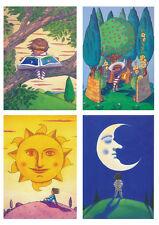 Set of four signed Ian beck Nursery Prints.