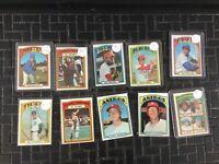 1972 Topps Baseball 10 lot Tom Seaver Higher Grade Johnny Bench Lou Brock Psa ?