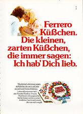 3w3616/ Alte Reklame von 1973 - FERRERO Küsschen
