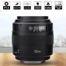YN-50mm F1.4 Prime Lente Focal Fijo AF/MF Gran Apertura para Canon DSLR Cámaras