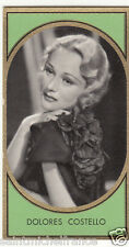 DOLORES COSTELLO  ACTRESS ACTRICE États-Unis USA IMAGE CARD 30s