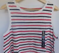 NWT Gap Women's Easy Swing Tank Top Round Hem Striped Medium Free Ship New