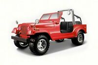 Jeep Wrangler, Red - Bburago 22033 - 1/24 Scale Diecast Model Toy Car
