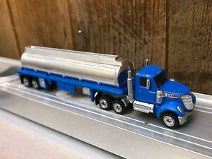 Matchbox Convoys 2020 Custom Painted Blue LoneStar with Tanker Code 3