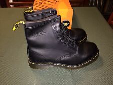 Dr Martens Nappa Black Boots Size Men 12 US 8 Eye Reg Toe New Made in China