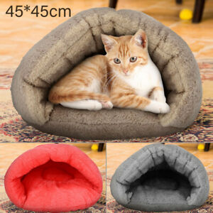 Puppy Pet Cat Dog Soft Warm Sleeping Bag Mat Pad Bed Nest Bed Cave House UK