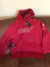 Nike Miami Heat Red Nba Hoodie Sweater NWT Size 2XL Mens