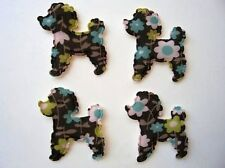 SALE~ 40 Poodle Dog Floral Fabric Applique Craft/Sewing/trim/quilting H179