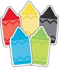 CD 120231 Chunky Colorful Crayon Bulletin Board Cut Outs Classroom Decor