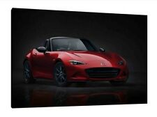 New 2016 Mazda MX-5 - 30x20 Inch Canvas Framed Picture Wall Art