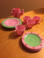 Piece Plastic Kids Toy Tea Dish Set For 4 GB7