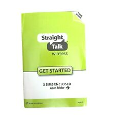 Get Started Straight Talk Wireless 3 Sim Cards Enclosed - Att, T Mobile, Verizon