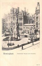 BIRMINGHAM UK~CHAMBERLAIN SQUARE AND UNIVERSITY PEACOCK PLATINO-PHOTO POSTCARD
