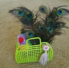 """NEW Vintage Retro LIME GREEN 9"""" (80's) JELLY Purse as GIFT BASKET (US Made)"""