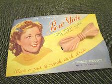 Vintage Arco para Cabello Slide Agarre en la tarjeta de visualización Original