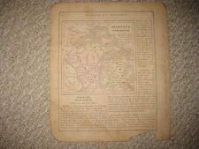 ANTIQUE 1858 MICHIGAN WISCONSIN COLTON HANDCOLORED MAP NORTHERN PENINSULA RARE N