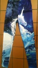 Women's Size S Online Legging Store Leggings Enchanted UnIcorn Print Blue