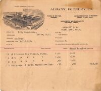 1910 Albany New York Billhead Albany Foundry Factory View Vignette