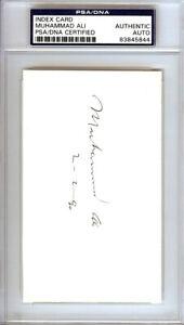 "Muhammad Ali Autographed Signed 3x5 Index Card ""2-2-90"" PSA/DNA 83845844"