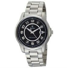 BULOVA 96B129 MEN'S DRESS PRECISIONIST DATE BLACK DIAL STAINLESS STEEL WATCH