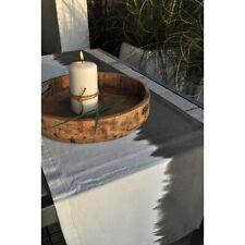 Artefina Tischläufer Dip Dye weiß - grau 40x140cm