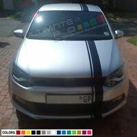 Decal Sticker Sport Stripe Body Kit For Volkswagen VW Polo 6R Bonnet Light Rear