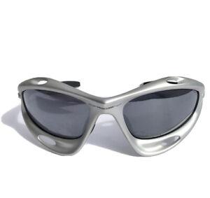 Authentic OAKLEY RACING JACKET Gen 1 Sunglasses Platinum Gray Blue Lenses USA
