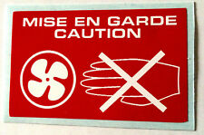Radiator Warning Sticker MISE EN GARDE CAUTION Rover Mini Metro Maestro Montego