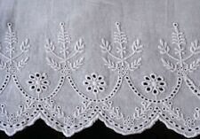 New White Cotton Sateen Embroidery Lace PillowCases Standard Queen King Pair m8#