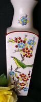 Vintage Vase Japanese Bird Flowers Tree Branches 8 inches tall