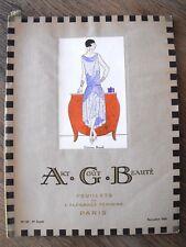 Art Goût Beauté  Nov. 1925  Revue de mode Art-Déco Feuillets Elegance Féminine