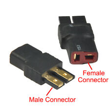 2pcs/set Wireless Traxxas TRX Male to T-Plug Deans Female Connector Adapter RC