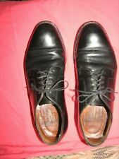 Brooks Brothers Men Black Cap Toe Dress Oxfords  Shoes 8 D (5803)  USA