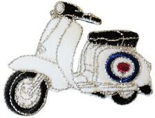 Scooter RAF Target Roundel Scooterist Iron/ Sew On Embroidered Cloth MODS Patch