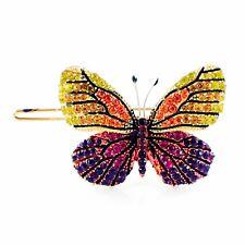USA BUTTERFLY Hair Clip Hairpin use Swarovski Crystal Elegant Multi Color B-8