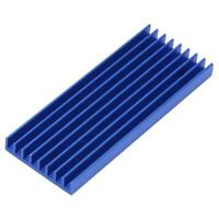 Q28*6*71.5 3 Holes Aluminum Cooling Fin Heat Sink Cooler for Circuit Board Chip