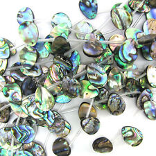 "16mm abalone shell flat teardrop beads 18"" strand S2"