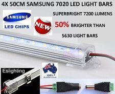 4X 50CM 7020 12V LED STRIP LIGHT BARS WORKSHOP SHED CAMPING BOAT TENT AWNING