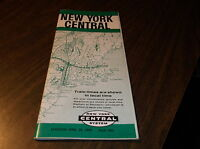 APRIL 1960 NEW YORK CENTRAL NYC  FORM 1001 SYSTEM PUBLIC TIMETABLE