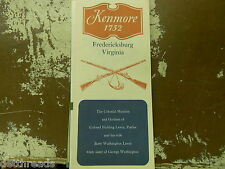 Vintage Travel Brochure - KENMORE 1752 - Fredericksbury, VA - From '60s '70s